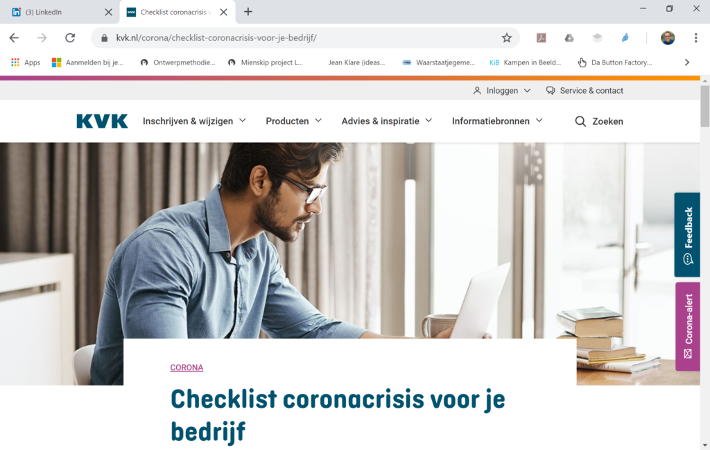 KvK checklist screenshot